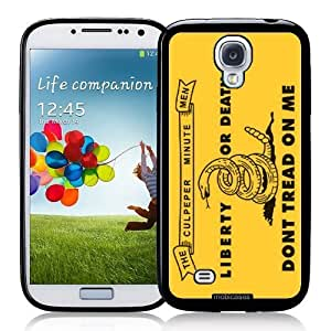 Cool Painting Flag of Culpeper Minutemen - Liberty Or Death Dont Tread On Me - Protective Designer BLACK Case - Fits Samsung Galaxy S4 i9500
