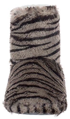 Pour Gris Avec Animaux Motif 2 Chaussons Tiger Semelle Antidérapante Femme Brandsseller FP5wzW