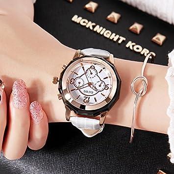 ASDFRTGRF Reloj Reloj de señora Impermeable Moda niña / 2018 Estudiante Minimalista Moda Tendencia Ocio Mujer