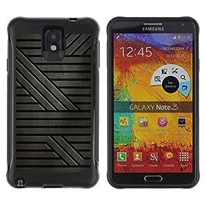 """Pulsar iFace Series Tpu silicona Carcasa Funda Case para SAMSUNG Galaxy Note 3 III / N9000 / N9005 , Gris Patrón rayas de ciencia ficción"""""""
