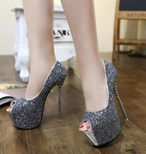 Stiletto Frauen Mund Mund Lace Sexy Schuhe Heels Single Shallow High Pumps Kitzen Fish gTwqXw