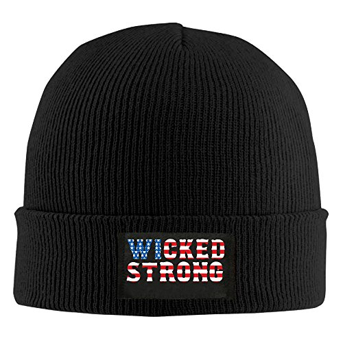 Wicked Strong Boston Strong Flag Beanie Hat Knit Cap Winter Fall For...