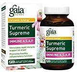 Gaia Herbs Turmeric Supreme Immune A.S.A.P, Vegan Liquid Capsules, 20 Count – Turmeric Curcumin Immune Support with Echinacea, Sambucus Black Elderberry, Ginger Root Review