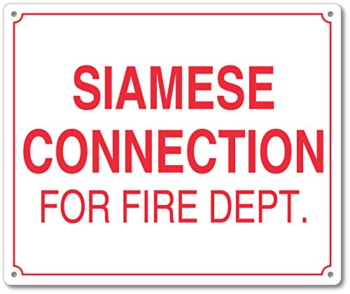 Siamese Connection For Fire Department Sign - 10