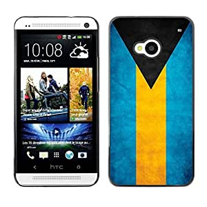 Shell-Star ( National Flag Series-Bahamas ) Snap On Hard Protective Case For HTC One (M7)