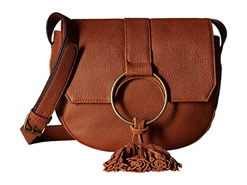Boho-Chic Vacation & Fall Looks - Standard & Plus Size Styless - Steve Madden Women's BLangston Crossbody Cognac Crossbody Bag