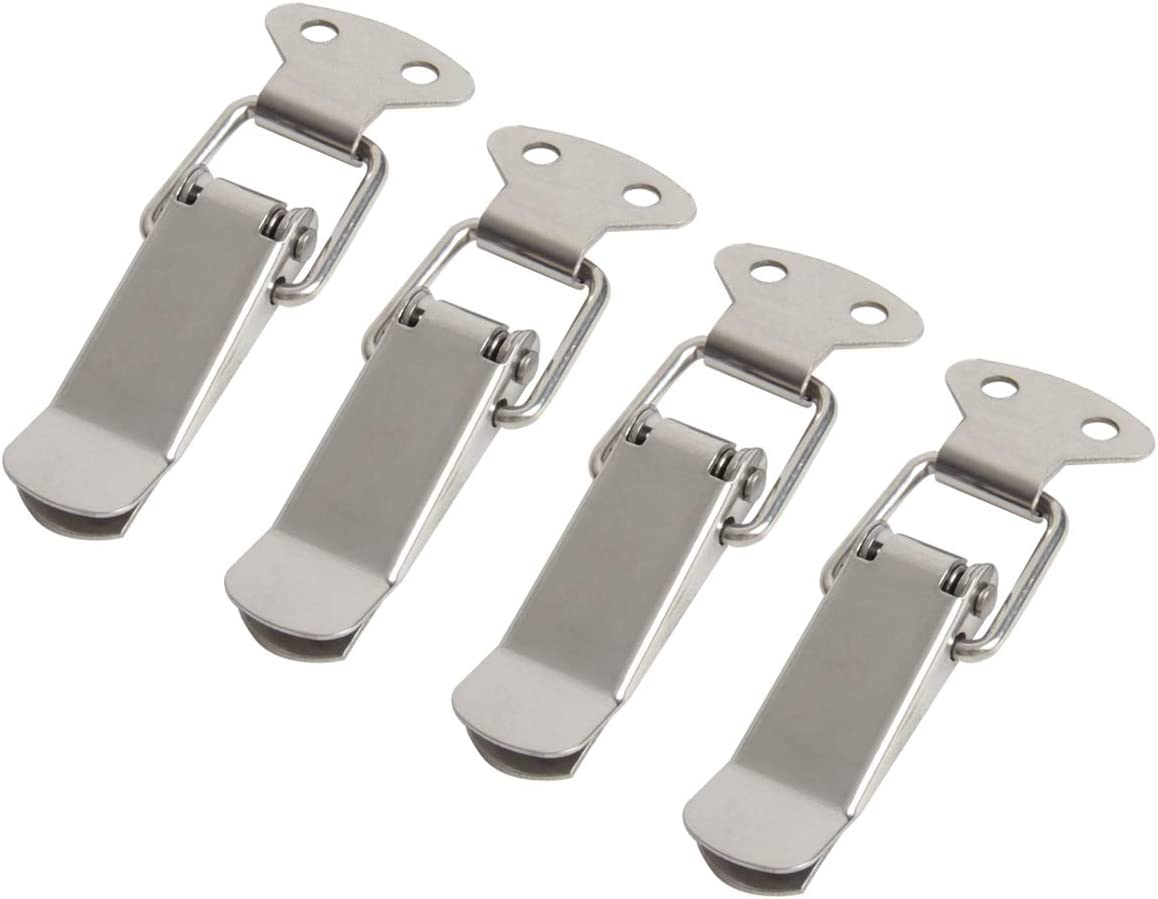 Ira Pollitt 8 Pack Stainless Steel Spring Loaded Toggle Latch Catch Clamp Clip Furniture Hardware Toggle Switch Hasp Trunk Latch Catches Hasps Clamps for Cabinet Boxes Closure Latch Lock