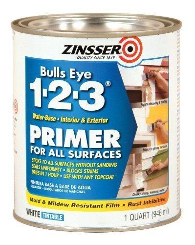 Rust-Oleum 2004 Zinsser Bulls Eye 1-2-3 White Water-Based Interior/Exterior Primer Sealer, 1-Quart by Rust-Oleum
