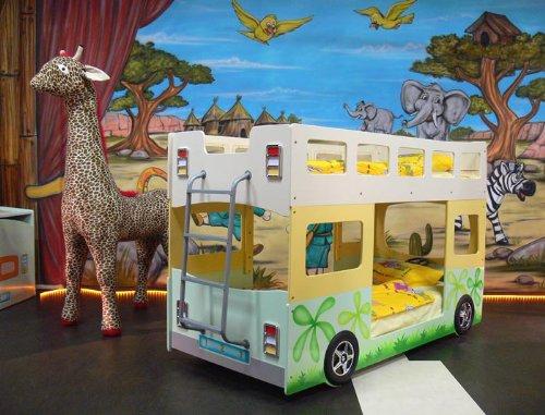 Etagenbett Bus Gebraucht : Hochbett etagenbett fantasy bus amazon küche haushalt