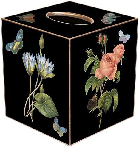 Blue Hydrangea Paper Mache Tissue Box Cover