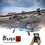 MJX B6FD Racing Drone, Hometall High Speed Motor Brushless Quadcopter Bugs 6 FPV Racing Drone RC Helicopter with 5.8G HD 720P Camera&D43 5.8G Receiver Display