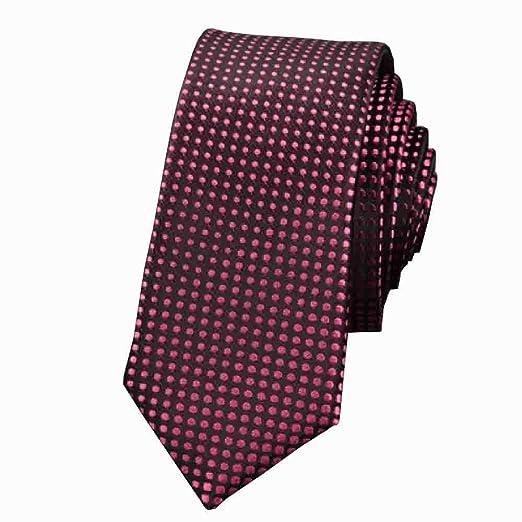 Hjyi Corbata de Vestir para Hombre, Corbata de Cuerda Casual ...