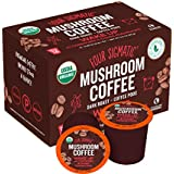Four Sigmatic Mushroom Kcup Organic and Fair Trade Coffee Pods with Chaga and Cordyceps mushrooms Vegan, Paleo, Recyclable Kcups,12 count