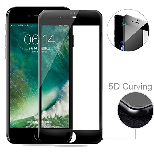 watch f7b11 7e05d Amazon.com: T-Mobile iPhone 7 Screen Protector, 5D Tempered Glass ...