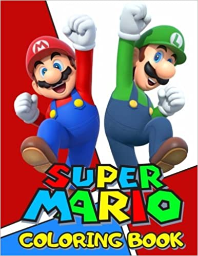 Super Mario Coloring Book: Great Coloring Pages: Angelina Draw ...