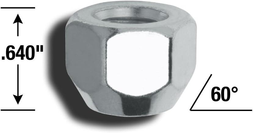 Gorilla Automotive 70077B Acorn Open End Lug Nuts 7//16-Inch Thread Size