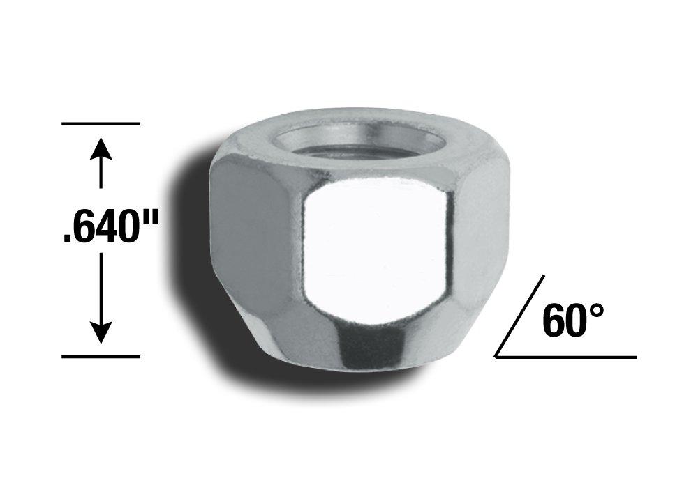 Gorilla Automotive 70087 Acorn Open End Lug Nuts 1//2 Thread Size