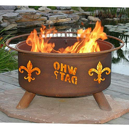 Mikash Who Dat 30 diam. Fire Pit Set with Grill and Free Cover | Model GRLLST - 79 ()
