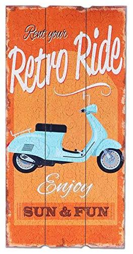 Tds Cartel Vespa Retro Ride Vintage de Madera con Texto ...