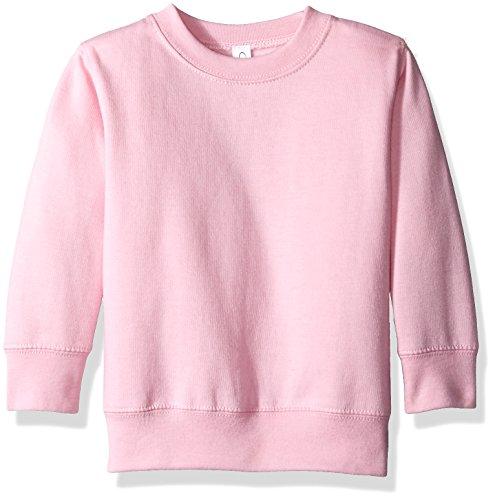 Clementine Apparel Girls' Little (2-7) Apparel Toddler's Fleece Sweatshirt, Pink, 5/6