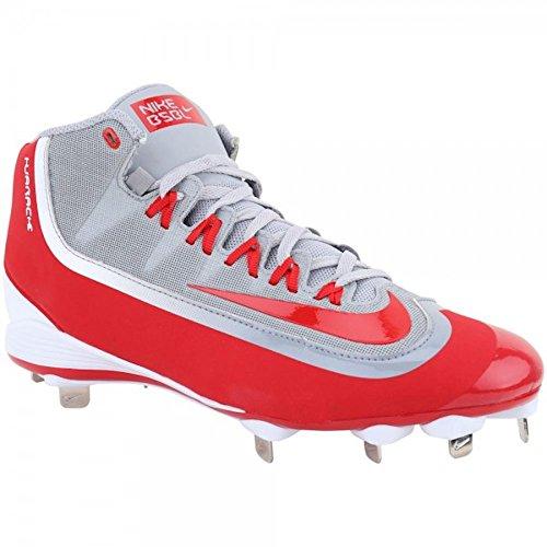 Nike Hommes Huarache 2kfilth Pro Mi Baseball Taquet Loup Gris / Université Rouge / Blanc
