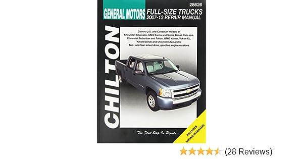 Amazon gm full size trucks chilton repair manual 2007 2012 amazon gm full size trucks chilton repair manual 2007 2012 0035675286268 books fandeluxe Choice Image