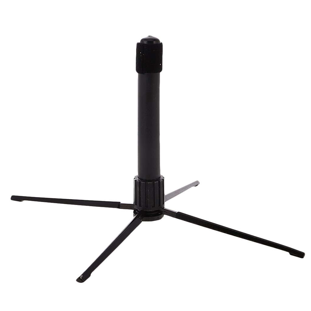 Black Portable Folding Flute Stand Bracket Rack Support Holder Accessory