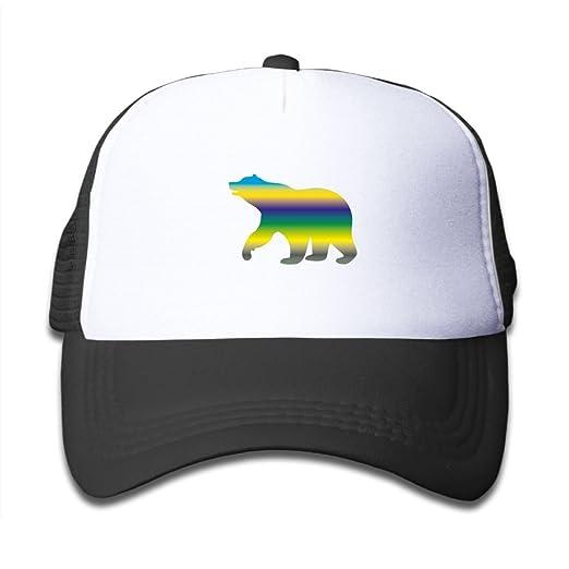 4e1b653ae69 Amazon.com  Color Bear Silhouette Girls Snapback Mesh Baseball Hats ...