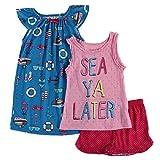 Komar Kids Girls'Sea Ya Later 3-Piece Pajama Set, Size S