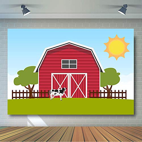 Barn Scene Setter - COMOPHOTO Red Barn Farm Photography Background