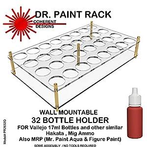 COHPR2632Q Dr Paint Rack - Wall Mountable 32 Bottle Holder (for Vallejo/Hataka/Ammo 17ml Type Bottles) 3