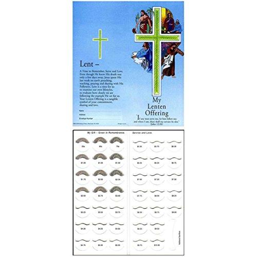 Coin Folders Lenten - Sterling Gifts $10.00 Lenten Easter Coin Folder Four Stations of The Cross (pkg of 50)