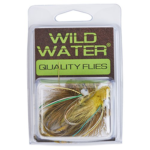 Wild Water Green Frog Deer Hair Diver, Size 2, Qty. 2 (Frog Hair Deer)