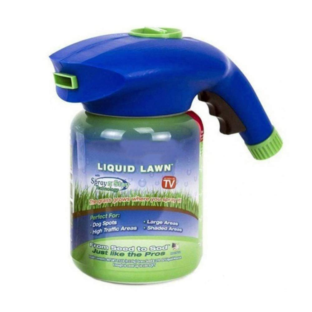Handfly Grass Growth Garden Sprayer Bottle- Lawn Yard Seed Sprayer Hydro Mousse Sowing, The Grass Grows Where You Spray(No with Seed and Liquid