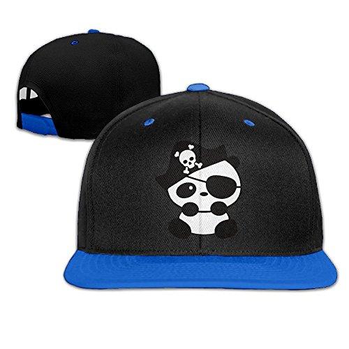 Animal Panda Cartoon Pirate Snapback Adjustable Baseball Unisex Hat RoyalBlue (Cartoon Pirate Hat)