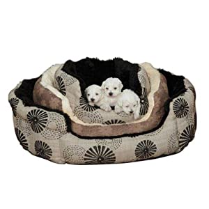 B004AAS6GQYC Slumber Pet 18-Inch Polyester Uptown Loungers Dog Bed, Small, Spiral