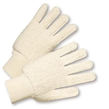 Terry Cloth Knitwrist Gloves, 26 oz. {12 Pair}