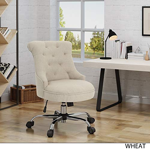 Christopher Knight Home Auden Home Office Desk Chair by Wheat + Chrome