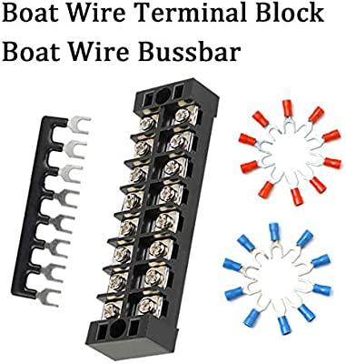 Shangyuan Boat Wire Terminal Block Buss Bar For Electrical Equipment 25a Terminal Strip Blocks Busbar For Wiring Up Fuse Panel Battery Switches Inverters Boat Lights Marine Interior Navigation Light Amazon Sg Sports Fitness