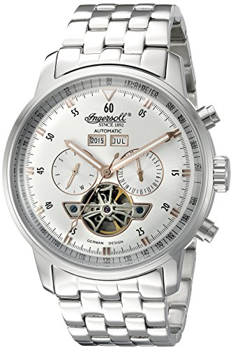 Ingersoll Men's IN4511SLMB Okies Analog Display Automatic Self Wind Silver Watch