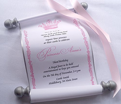 amazon com princess invitation scrolls for birthday party with