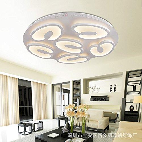 Stylish minimalist LED Ceiling lamp Bedroom Living room Study Children Ceiling Lamp,9 Head - Pendant Bound Glass Lantern Light