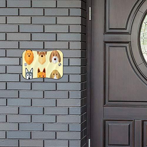 Door Sign Dogs Sets Cool Hanging Wall Art Primitive for Kids Baby Room