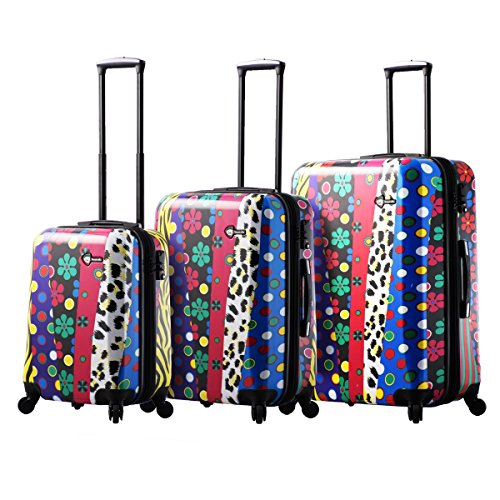 Mia Toro Pop Fiore Hardside Spinner Luggage 3PC Set, Multi