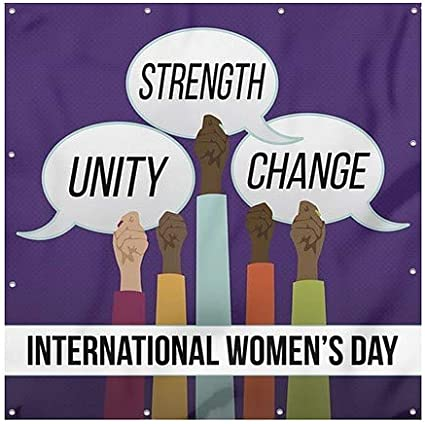 Square Heavy-Duty Outdoor Vinyl Banner 8x8 Bubbles CGSignLab Womans Day