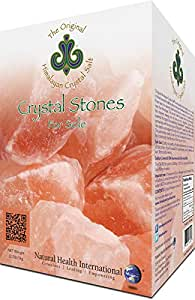 Original Himalayan Crystal Salt Stones for Sole 2.2lb (1kg) - Increase Hydration, Energy, Vibration, Cellular Communication and Replenish Electrolytes with 84 Trace Minerals