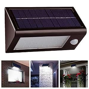 Solar Powered sensor de seguridad luz 32LED blanco brillante batería seguridad