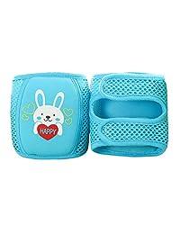 Enerhu Cartoon Baby Anti-slip Knee Pad Protector Toddler Elbow Pads Kneepads Blue