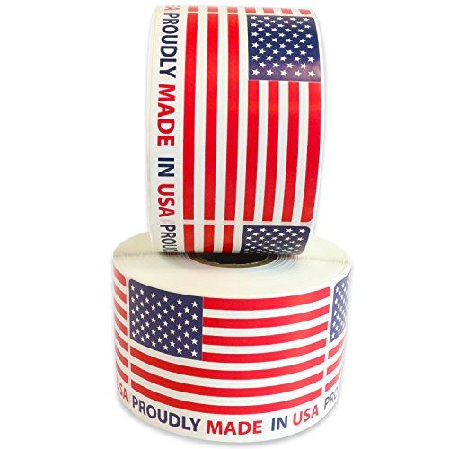"Milcoast ""Proudly Made in USA"" Label Stickers - 2"
