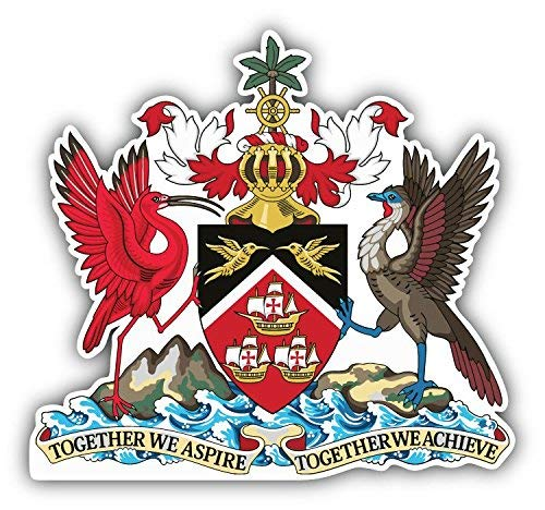 Coat Of Arms Art - DG Graphics Trinidad and Tobago Coat of Arms Art Decor 5'' x 5'' Vinyl Decal Sticker Wall Window Any Smooth Surface